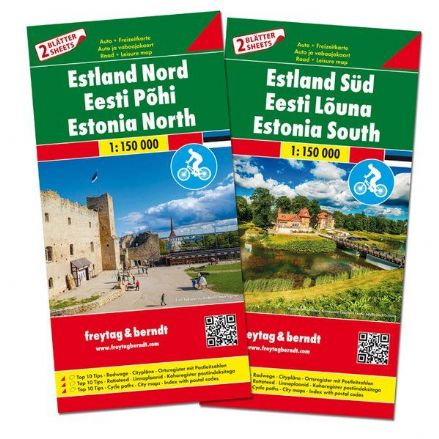 Estonia East & West Incl Cycle Paths - Freytag & Berndt